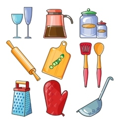 Cooking tools and kitchenware equipment vector