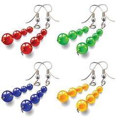 Womens jewelry earrings vector