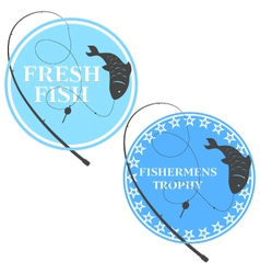 Emblem for fishing vector