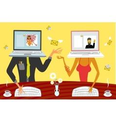 Virtual relationships vector