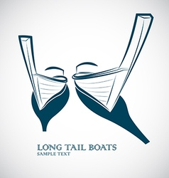 Long tail boats vector