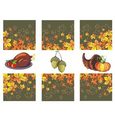 Autumn banners with leaves and pumpkinsturkey vector