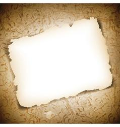 Burned empty paper vector