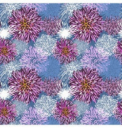 Seamless hand-drawn flower pattern vector