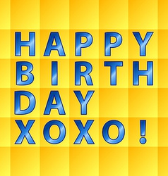 Birthday card-yellow squares vector