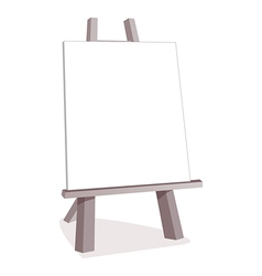 Wooden easel vector