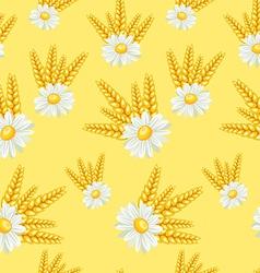 Summer field seamless pattern vector