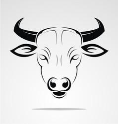 Cow head mascot vector