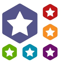 Star rhombus icons vector
