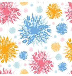 Abstract paint flowers seamless pattern background vector