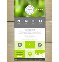 Ecology concept web site design vector