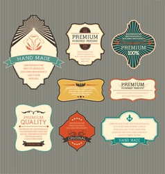 Vintage label for retro banners vector