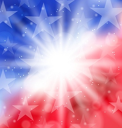 Happy 4th of july card with place for text vector