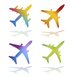 Commercial airplanes vector