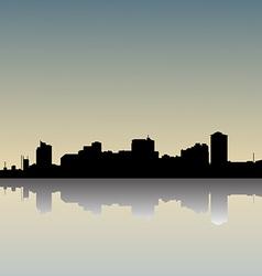 Skyline dusk vector