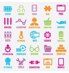 Set of seo and internet service icons - part 2 vector