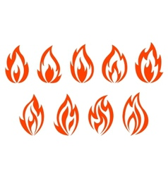 Fire flames symbols vector