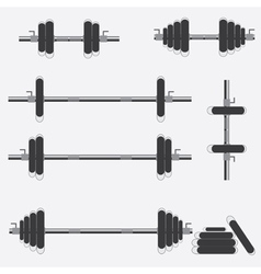 Barbells and dumbbells vector