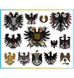 Heraldic eagles vector