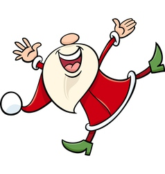 Happy santa claus cartoon vector