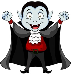 Funny vampire cartoon vector