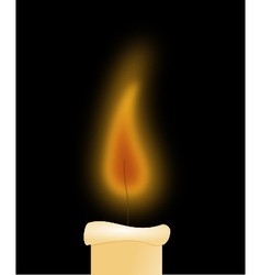 Candlelight in the dark vector
