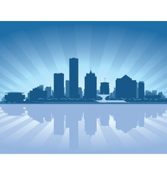Milwaukee wisconsin skyline vector