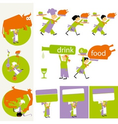 Cook people set vector
