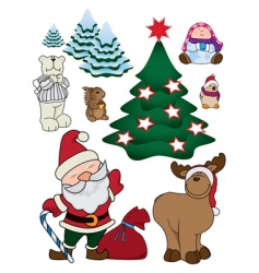 Christmas character set vector