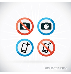 Prohibited icons vector