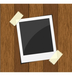 Wood photo board vector