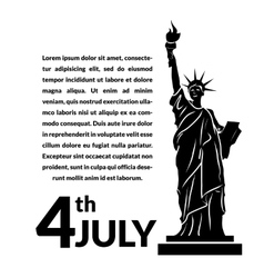 Black and white of independence day usa vector