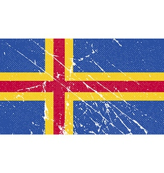Flag of aland with old texture vector