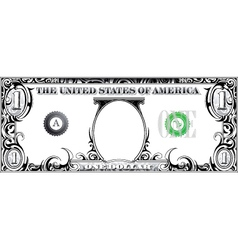 Tribal dollar bill vector