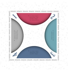 Design template for infographics vector