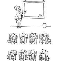 Classroom with pupils vector