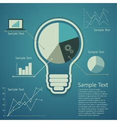 Bulb concept of success an idea vector