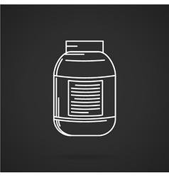 Creatine supplements jar icon vector