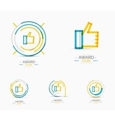 Thumb up icon logo design vector
