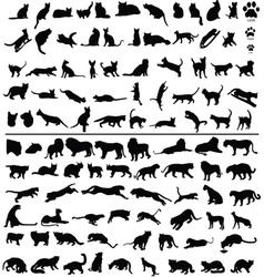100 cats vector