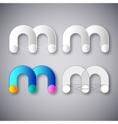 Abstract combination of letter m vector