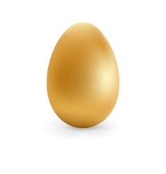 Golden egg happy easter  eps8 vector