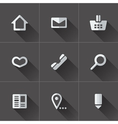 Set of website menu icons vector
