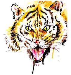Watercolor tiger vector