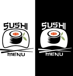 Sushi menu card template vector