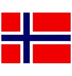 Norwegian flag vector