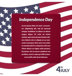 Colorful of independence day usa vector
