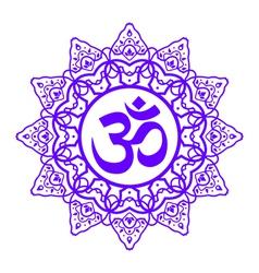 Om aum symbol vector