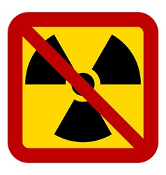 No nuclear weapons sign vector