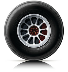 Sports car wheel vector